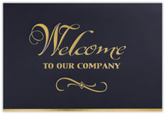 Elegant Welcome Card