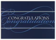 Navy Congratulations Card