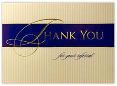 Pinstripe Thank You Card