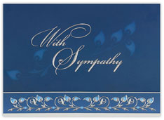 Silver Leaves Sympathy Card