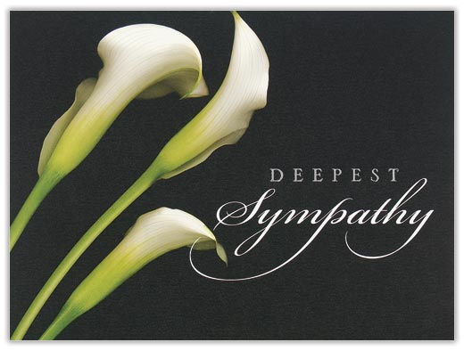 White Callalily Sympathy Card - Sympathy Cards from CardsDirect