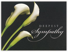 The Beauty of Lillies Sympathy Card