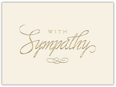 Golden Sympathy Card