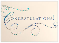 Congratulations in Stars