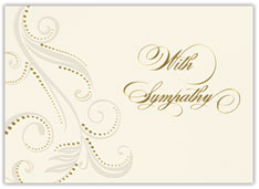 Paisley Golden Sympathy Card