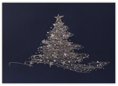 Abstract Sparkling Silver Christmas