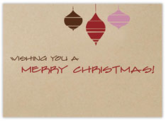 Simple Ornaments Holiday Card