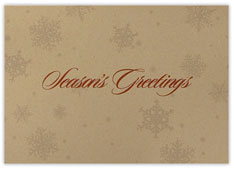 Faint Snowflake Holiday Card