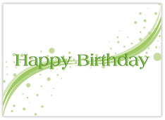 Green Swish Birthday Card