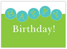 Lime and Teal Birthday Card