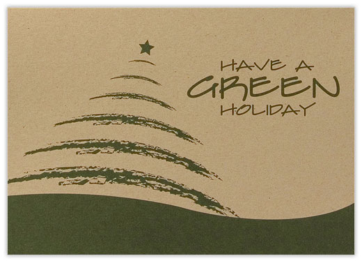 Have A Green Holiday Recycled - Recycled Christmas Cards from CardsDirect