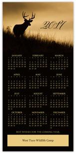 Wildlife Calendar Card