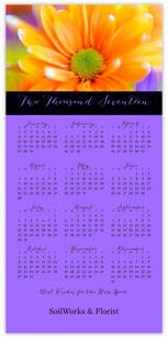 Floral Calendar Card