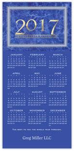 Blue Marble Calendar Card