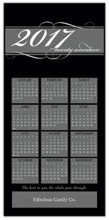 Black Calendar Card
