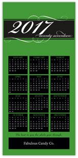 Green Calendar Card