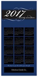 Blue Calendar Card
