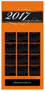 Orange Calendar Card