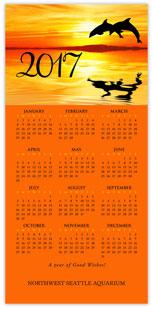 Dolphin Calendar Card