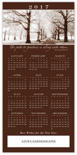 Sepia Tone Calendar Card
