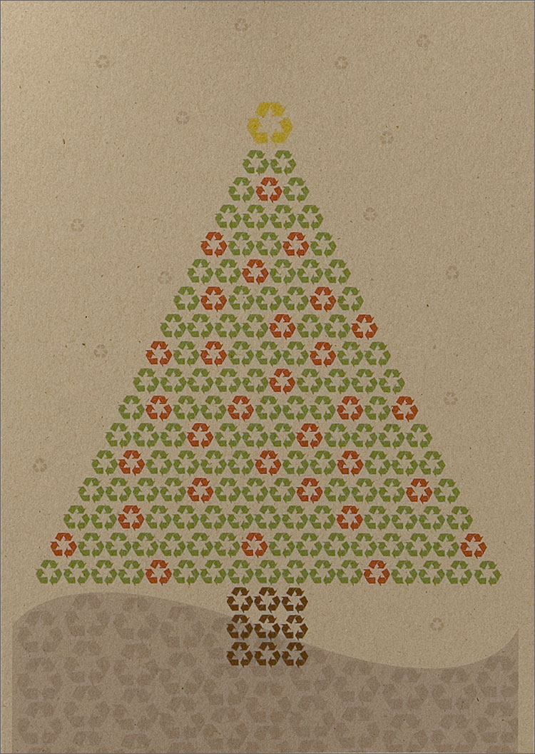 recycle symbol christmas  recycled christmas cards from