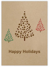 Happy Holiday Simple Trees