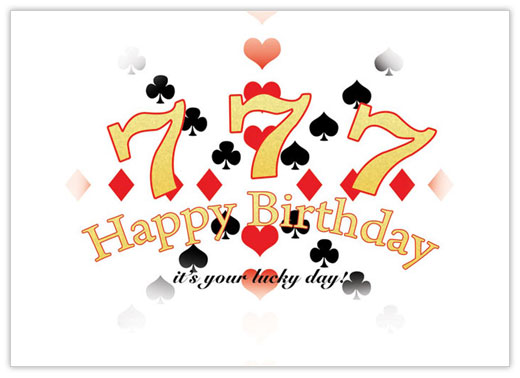 Lucky 7's Birthday Card - Birthday Cards from CardsDirect