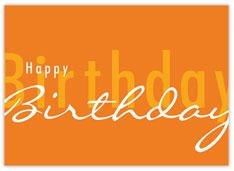 Tangerine Scripted Birthday