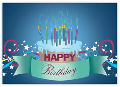 Candle Birthday Bash Card