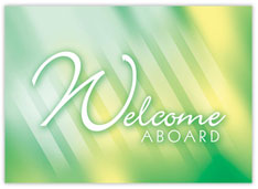 Emerald Welcome Aboard Card