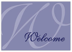Simple Purple Welcome Card