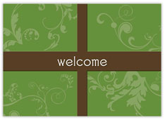 Scrolls Present Welcome Card