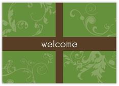 Scrolls Present Welcome Card