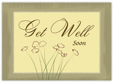 Framed Flowers Get Well