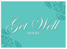 Get Well Flower Outlined Card