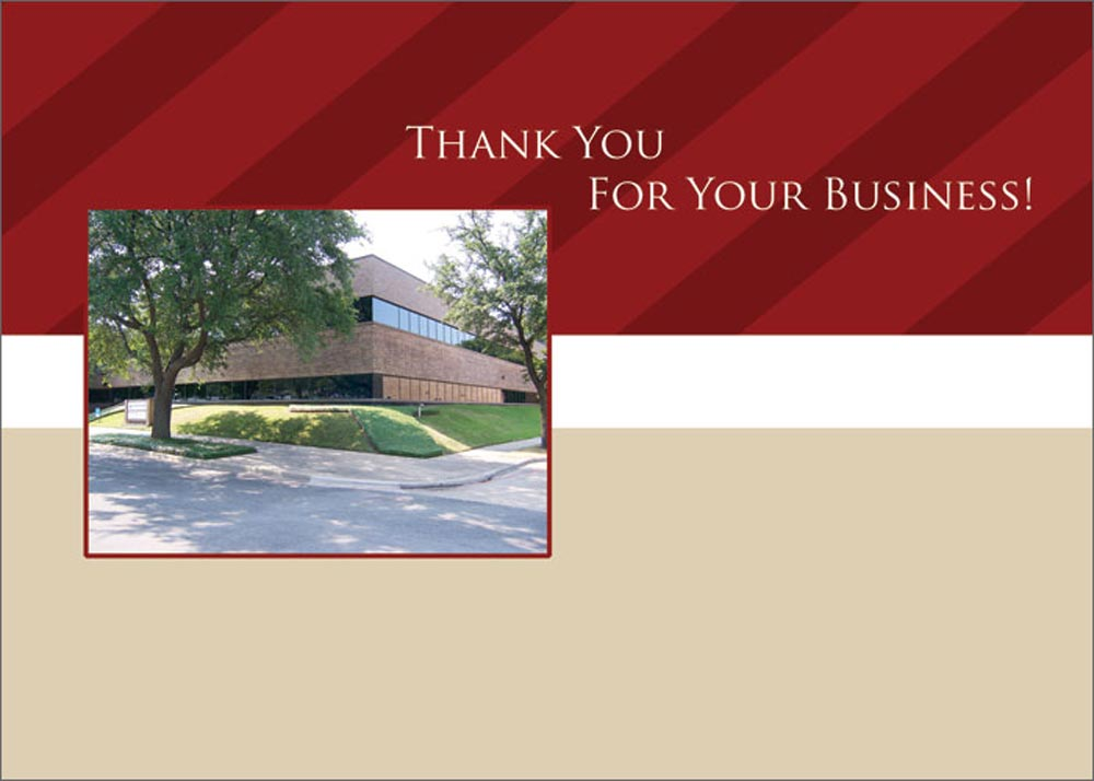 thank you card professional