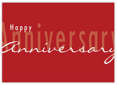 Simple Red Anniversary