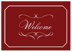 Elegant Red Welcome Card