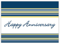 Horizontal Striped Anniversary