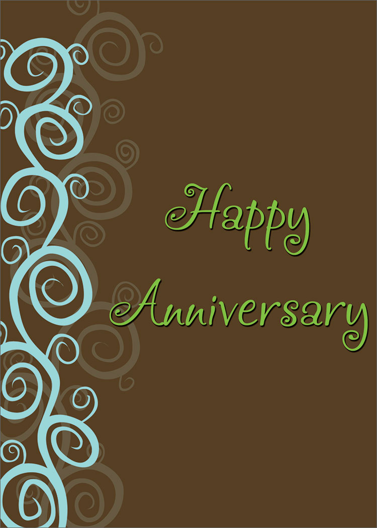 Fun Swirls Anniversary - Anniversary Cards from CardsDirect - home ...