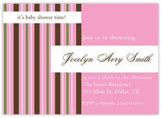 Pink Pinstriped Invitation