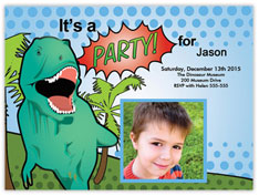 Dinosaur Party Photo Invitation