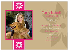 Floral Party Photo Invitation