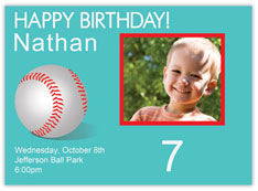 Baseball Themed Birthday