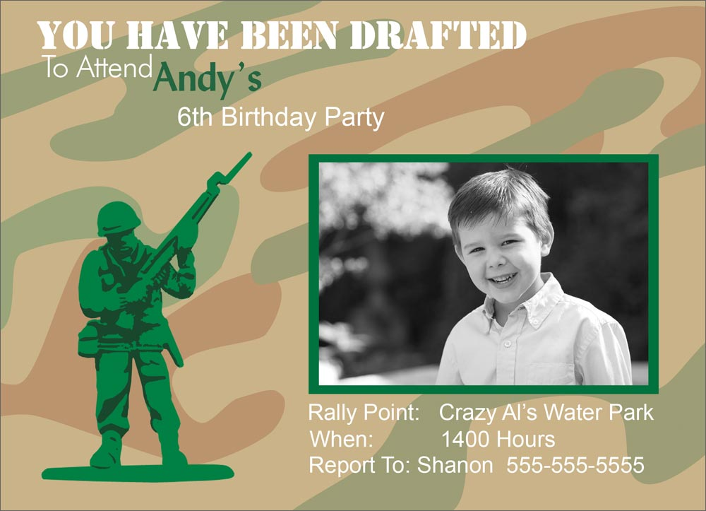 Army Theme Birthday Army Themed Birthday Party