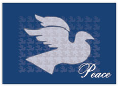 Dove of Peace on Blue Holiday