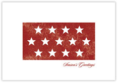 Patriotic Stars Holiday Card