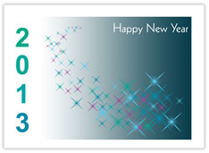 Sparkling New Year Card