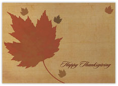 Antiqued Finish Thanksgiving Card