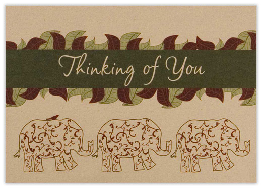 An Elephant Never Forgets - Thinking of You Cards from CardsDirect